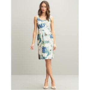 BANANA REPUBLIC Silk Abstract Floral Dress 14